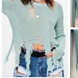 Misguided ripped distressed sweater